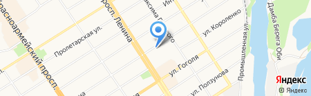 Киоск по продаже бытовой химии на карте Барнаула