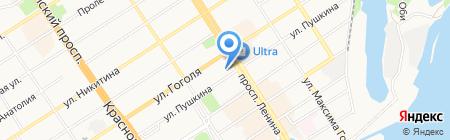 Регата на карте Барнаула