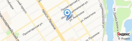Марти на карте Барнаула