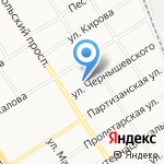 Арбуз на карте Барнаула