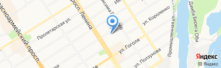 Мясной магазин на карте Барнаула