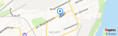 Дикий хмель на карте Барнаула
