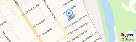 Ангелина на карте Барнаула