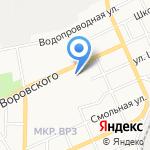 Строитель на карте Барнаула