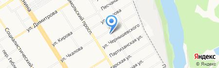 Ианта на карте Барнаула