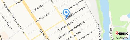 Похоронная служба на карте Барнаула