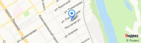 Детский сад №263 на карте Барнаула