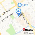 Электроника на карте Барнаула