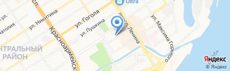 ГраФ на карте Барнаула