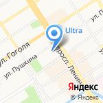 Главное Управление строительства на карте Барнаула