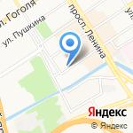 Лалетин на карте Барнаула