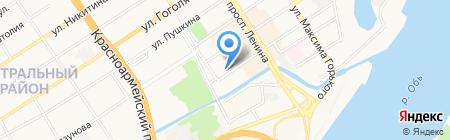 Домино на карте Барнаула