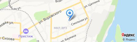 Магазин мясной продукции на карте Барнаула