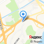Renault на карте Барнаула