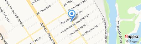 9 градусов+ на карте Барнаула