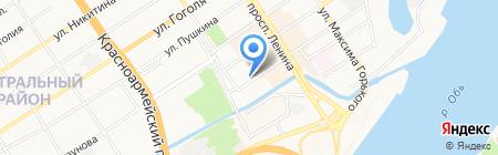 Салон мужской одежды на карте Барнаула