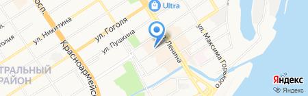 Ковровый дом на карте Барнаула