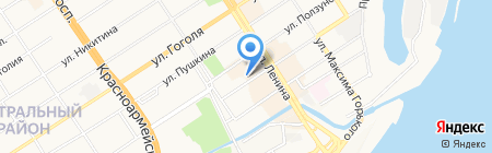 Омега-Тур на карте Барнаула