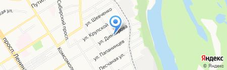Продуктовый магазин на Димитрова на карте Барнаула