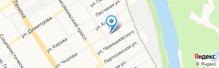 Новита на карте Барнаула