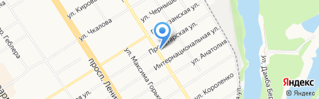 Компания ТрансТелеКом на карте Барнаула