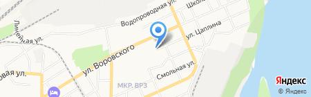Территориальное общественное самоуправление Октябрьского микрорайона на карте Барнаула