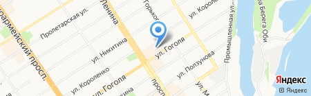 Тека и К на карте Барнаула