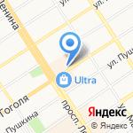 Акцент-Авто на карте Барнаула