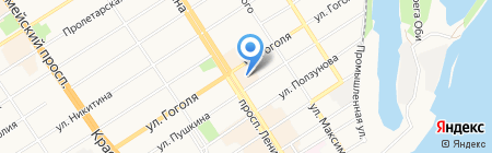 Магазин светотехнической продукции на карте Барнаула
