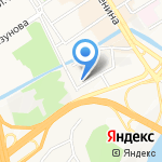 Грузовоз на карте Барнаула