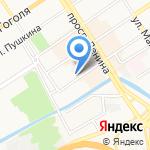 Манул на карте Барнаула