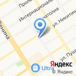 Динамо на карте Барнаула