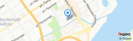 Магазин товаров для дома на карте Барнаула