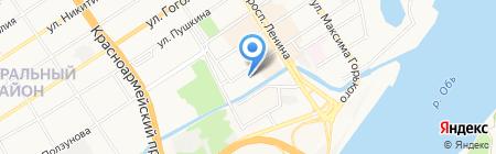 Электрика на карте Барнаула
