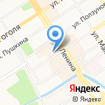 Дом обоев на карте Барнаула
