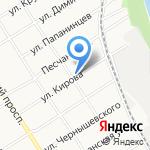 На Кирова на карте Барнаула