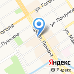 Даникс на карте Барнаула