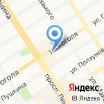 Канцелярские товары на карте Барнаула