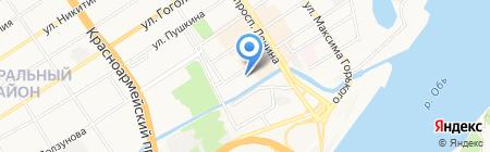Торгово-сервисная компания на карте Барнаула