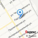 Авангард на карте Барнаула