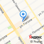Московский комсомолец на Алтае на карте Барнаула
