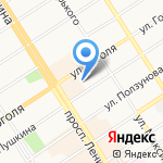 Магазин детского трикотажа на карте Барнаула
