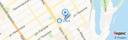 Практик на карте Барнаула