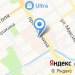 Степ на карте Барнаула