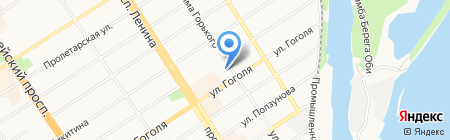 Бизнес-поддержка на карте Барнаула