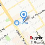 Академия Командообразования на карте Барнаула