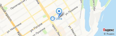 Аретея на карте Барнаула