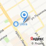 Мелко-оптовая база на карте Барнаула