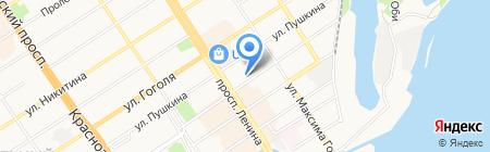 Автохозяйство на карте Барнаула