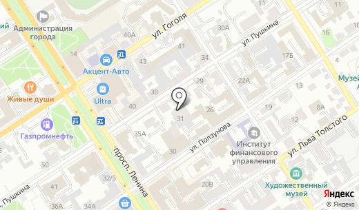 Альтернатива. Схема проезда в Барнауле